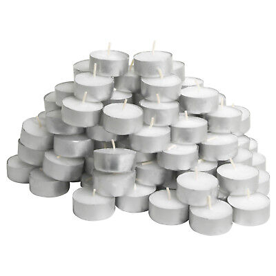 IKEA 100 Tea Light Candles Unscented White 38mm Wax Tealight 2.5 Hours • 8.99£