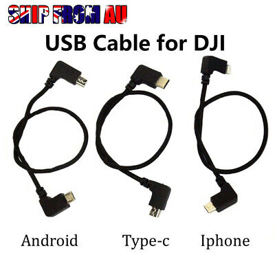 AU8.95 • Buy Micro USB Cable OTG 90° For DJI Spark Mavic Pro Air Transmitter Control Apple
