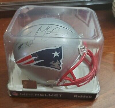 $60 • Buy DEVIN McCOURTY AUTOGRAPHED NEW ENGLAND PATRIOTS MINI HELMET Riddell