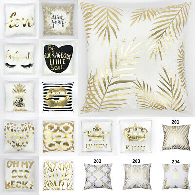 Luxury Gold Glitter Soft Cushion Cover Throw Pillow Case Sofa Home Decor Art 18  • 4.49£