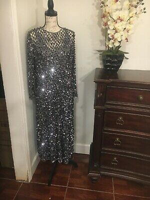 $75 • Buy Zara Limited Edition Sequined Silver  Dress NWT Size M-L.
