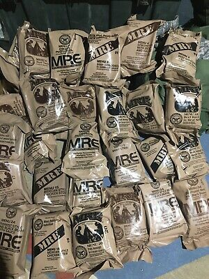 $95 • Buy 12 MRE Meals US Military Mixed ALL MEAT Meal Varieties CASE