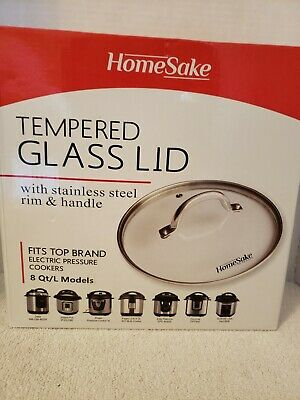 $12 • Buy HomeSake Tempered Glass Lid Fits 8 Quart Electric Pressure Cookers Instant Pot