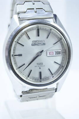 $ CDN454.26 • Buy Seiko 5 Actus 6106-7510 Vintage Day Date 25 Jewels SS Gray Automatic Mens Watch