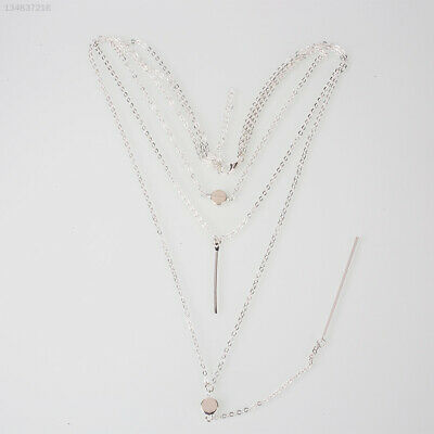 AU10.32 • Buy 50E6 Necklace For Women Three Exquisite Layers Small Dots Jewelry Chain Design