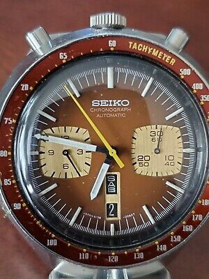 $ CDN571.15 • Buy Vintage SEIKO 6138-0049 Automatic Chronograph Watch Runs BULLHEAD Kanji Daydial