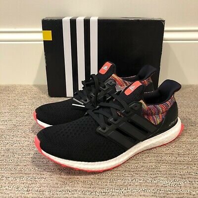 $ CDN176.28 • Buy Adidas Mi Ultra Boost Rainbow, Black/Soler Red, Size 9.5 [BY1756]