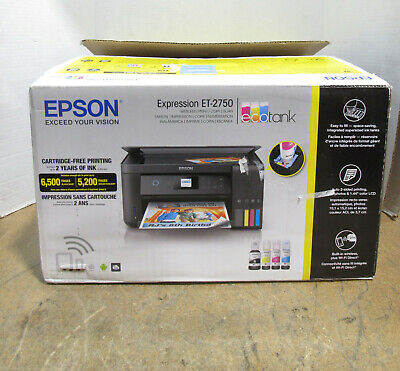 View Details NEW OPEN BOX Epson Expression ET-2750 EcoTank All-in-One Wireless Color Printer • 215.99$
