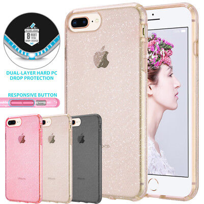 AU7.59 • Buy Iphone 6 6s 7 8 Plus Case Glitter Clear Heavyduty Shockproof Bumper For Apple