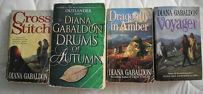 AU6.50 • Buy 4 Outlander Books - Cross Stitch-Dragonfly In Amber - Drums Of Autumn - Voyager