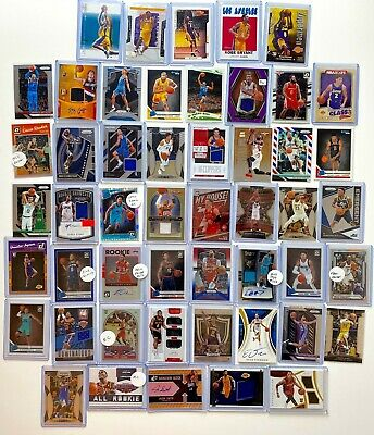 $ CDN21.86 • Buy (50) Basketball Card Lot! AUTO, Jersey, Prizm Insert, SP #'d, RC, Kobe Bryant!
