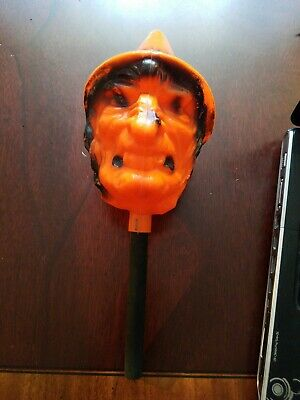 $25 • Buy Vintage Halloween 13  WITCH RATTLE Plastic Blow Mold Bayshore Inc NY Noise Maker