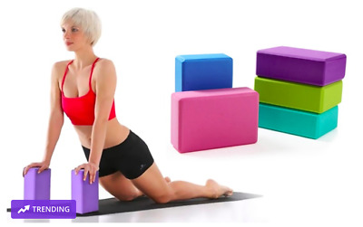 AU24.90 • Buy 2Pcs Yoga Block Brick Gym Sport Tool Foaming Fitness Practice Home Exercise