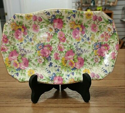 $ CDN45 • Buy Vintage Royal Winton Summertime  Cream And Sugar Ascot Tray