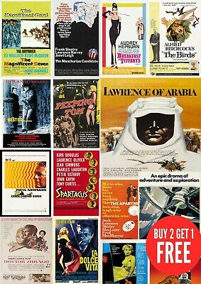 £4.99 • Buy 1960's Classic Retro Vintage, Many Movie Posters A0-A1-A2-A3-A4-A5-A6-MAXI C454