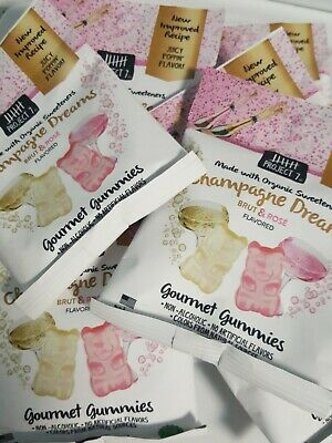 $21 • Buy 10 BAGS Project 7 Gummies ~CHAMPAGNE DREAMS (Brut&Rose`)GOURMET GUMMIES 2oz Bags