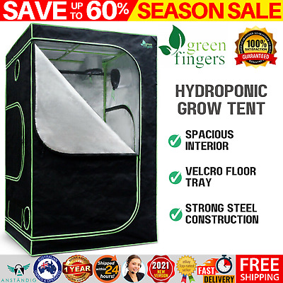 AU137.95 • Buy Hydroponic Grow Tent Reflective Aluminum Plant Growing Room Oxford Cloth 180cm