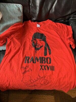 """Crystal Palace """"Rambo"""" T Shirt Signed By Peter Ramage, Won In A Competition FYP • 6.50£"""