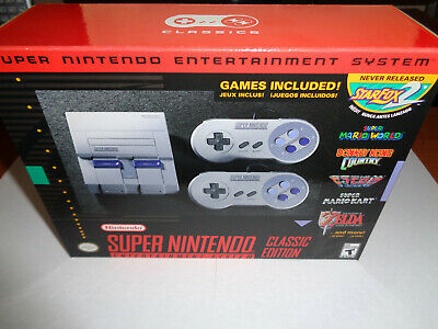 $ CDN211.52 • Buy New SNES Super NES Classic System 21 Games Official Unopened