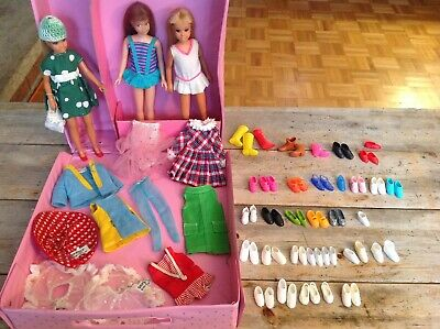 $ CDN35 • Buy Vintage1960s Lot Of 3 Skipper Sister Of Barbie W/ Tagged Clothes & 59pcs Shoes