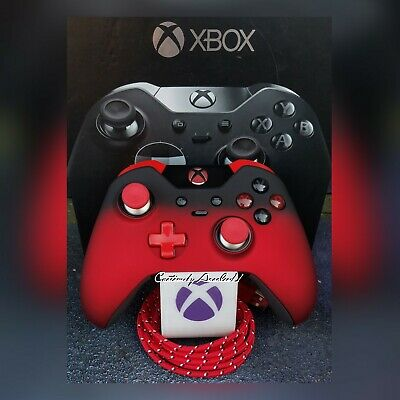 $200 • Buy Xbox  One Elite Wireless Controller Custom Red Shadow Ombre Red Led Red Tips