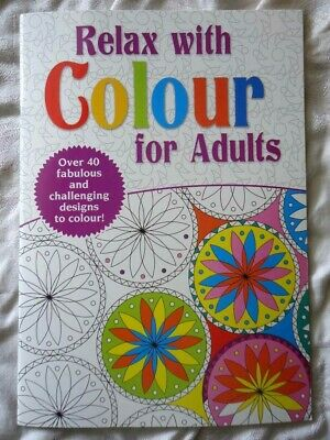Relax With Colour For Adults  - A4 Size Colouring Book - 32 Patterned Pages- New • 2.99£