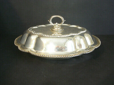 Silver Plated ~ Covered Entree / Vegetable Bowl / Dish • 22.43£