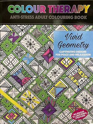 Colour Therapy Mind Relaxing Colouring Colour Books The Anti Stress Adult Colour • 2.75£