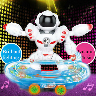 AU33.07 • Buy 53B9 Robot Toy Dancing Robot Skateboard Intelligence Gifts Voice-Activated Music