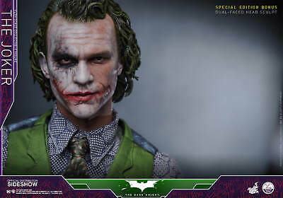 $730 • Buy Hot Toys Joker Quarter Scale 1/4 (Sideshow Exclusive Version) With Extra Head