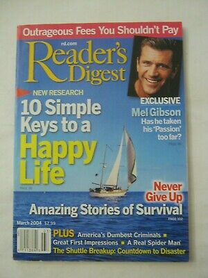 $1.49 • Buy Reader's Digest Magazine - March 2004 - 10 Simple Keys To A Happy Life (MW-37)
