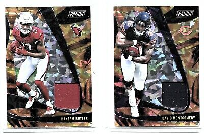 $6 • Buy 2019 Player Of The Day Football Jersey Cards Hakeem Butler & David Montgomery