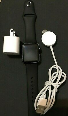 $ CDN298.40 • Buy Apple Watch Series 3 38mm SpaceGray Aluminium Case W/ Black Sport Band GPS+CELL