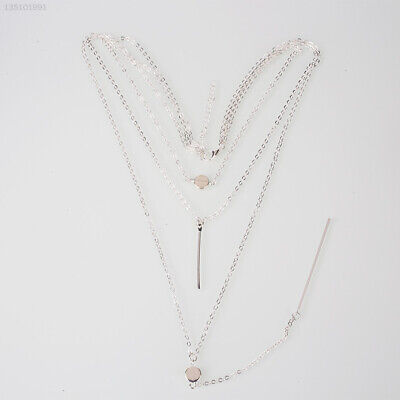 AU10.72 • Buy C1A8 Necklace For Women Layers Small Dots Three Exquisite Jewelry Chain Fashion
