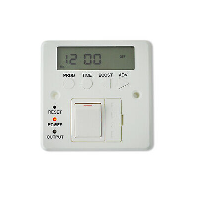 £37.49 • Buy Digital Fused Spur Timer Wall Controller For Electric Heated Towel Rail Radiator