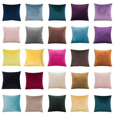 Plain Large Velvet Cushion Cover Pillow Case Home Sofa Decor 16  18  20  22  24  • 5.89£