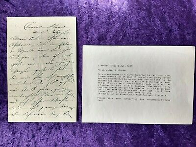 £329.99 • Buy Wonderful Signed Letter By Queen Victoria's Mother - Duchess Of Kent 1853