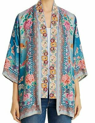 $149.99 • Buy 💕$350 Johnny Was Nova Embroidered Silk Kimono Sz Medium Stunning Colors 💕