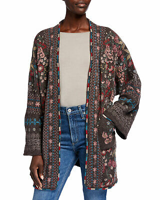 $169.99 • Buy 💕$385 Johnny Was Aya Embroidered Boho Woodbark Sweater Kimono Sz Large  💕