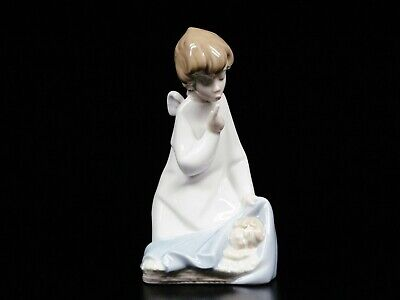 $65 • Buy LLADRO Figurine Angel With Sleeping Baby Hand Made In Spain 7  Tall