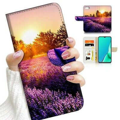 AU12.99 • Buy ( For Huawei Y5 2018 ) Wallet Flip Case Cover AJ23132 Lavender Flower