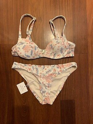 $30 • Buy ZIMMERMANN QUILTED BIKINI 2 PIECE TOP Size 0 BOTTOM Size 2-4 (US) SWIMSUIT