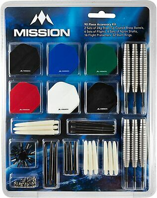 Mission Darts + Accessory Pack Kit Stems Flights Accessories 90 Pieces Steel Tip • 9.95£