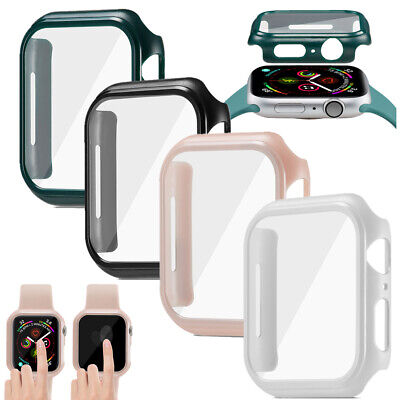 $ CDN6.89 • Buy For Apple Watch Series 5/4 Bumper Case Cover & Tempered Glass Screen Protector