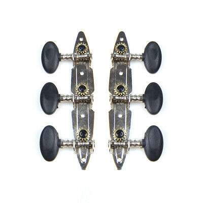 $ CDN17.66 • Buy 3-on-Plate Acoustic Guitar Tuners Set, Black Knobs (3x3), Unique Shaped Plate