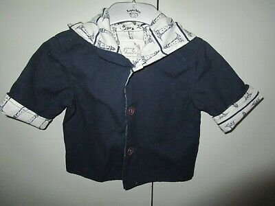 AU12.95 • Buy Baby Boys Young Hearts By Collette Dinnigan Navy Cotton Jacket With Hood  Size 0