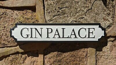 £10.95 • Buy Gin Palace Antique Style Wall Mounted White Plaque / Sign Street Sign