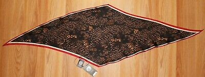 $14.99 • Buy New Vince Camuto Leopard Party 100% Silk Kite Bandana Scarf Nwt #VC710