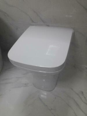 £99.99 • Buy Gina Luxury Compact Square Style Back To Wall Pan Toilet Wc Inc Soft Close Seat