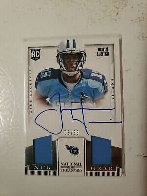 $4.99 • Buy Justin Hunter 2013 National Treasures Rookie Autograph Jersey Card #16 69/99